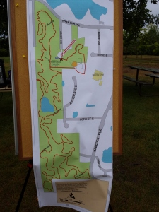 Race Map. 5 mile is one loop, 10 milers do two loops