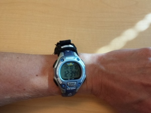 this is with the 1BandID on the opposite side of the watchstrap. You can tuck your watch strap in if you do this.