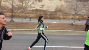 Daughter cruising along in the Turkey Trot. Doesn't she make it look easy?