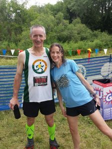 With Mark! 2nd place AG 50K! Congrats Mark, you're amazing!